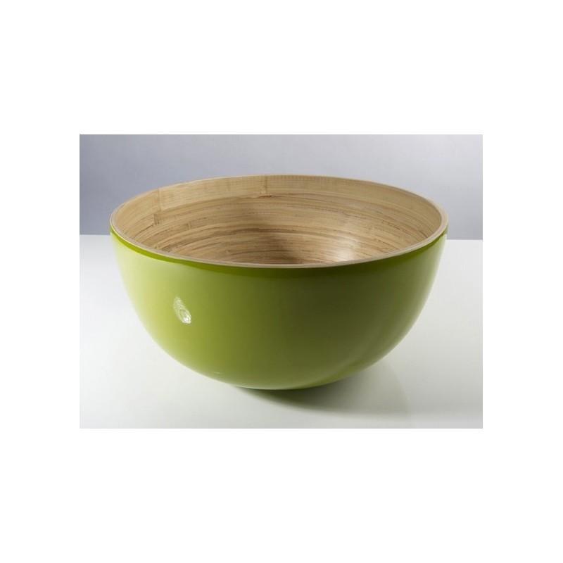 Ensaladera bambú lacado OLIVE