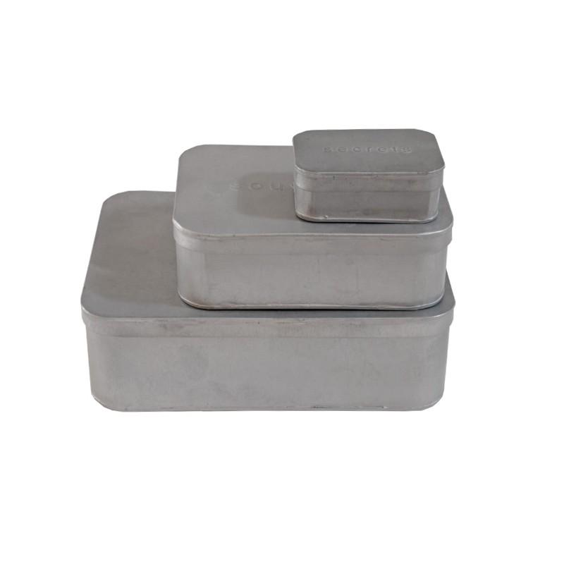Set 3 cajas zinc