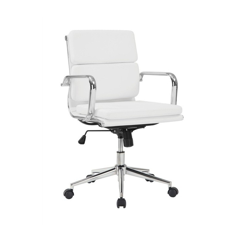 Sillón despacho similpiel blanca