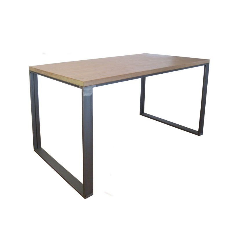 Mesa thai hierro y roble mesas de estudio a medida online for Mesas de estudio a medida