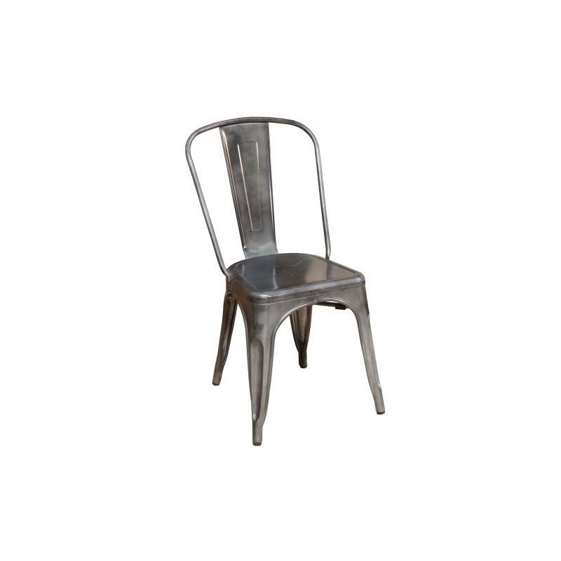 Silla metal galvanizado