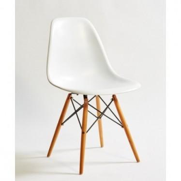 Silla ABS blanca / madera