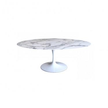 Mesa marmol ovalada