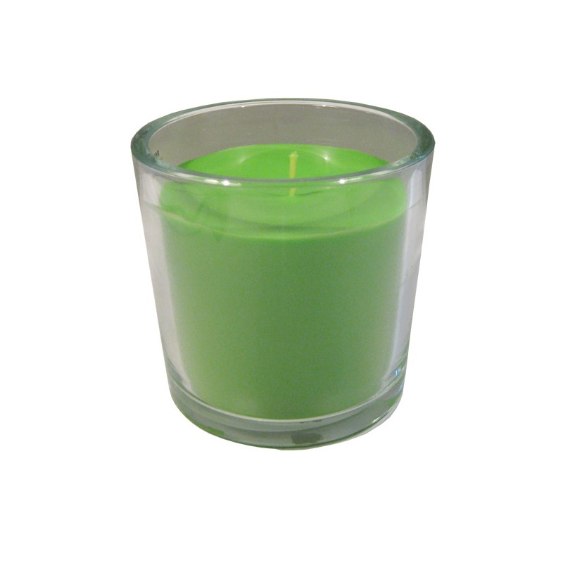 Vela cristal pistacho 14x14