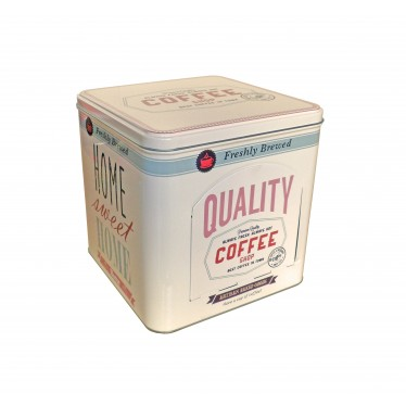 Caja metal COFFEE cuadrado