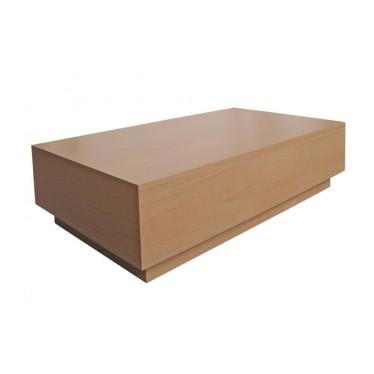 Mesa centro Foster rectangular roble