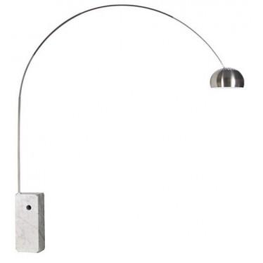 Lámpara Arco base mármol blanco
