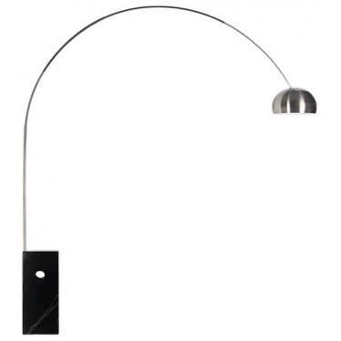 Lámpara Arco base mármol negro