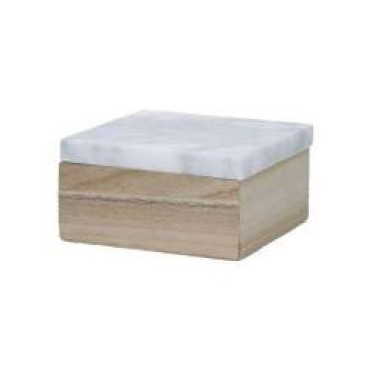 Caja FINN madera y mármol