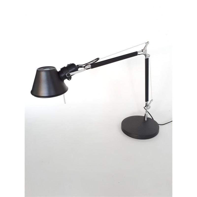 Lámpara Florence negra sobremesa