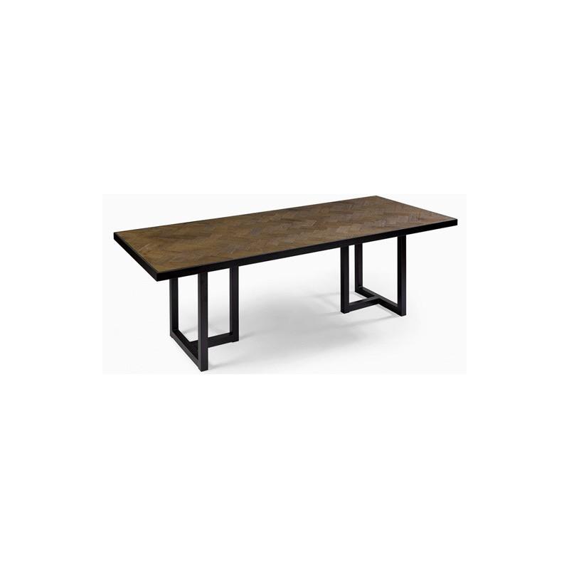 Mesa roble y hierro