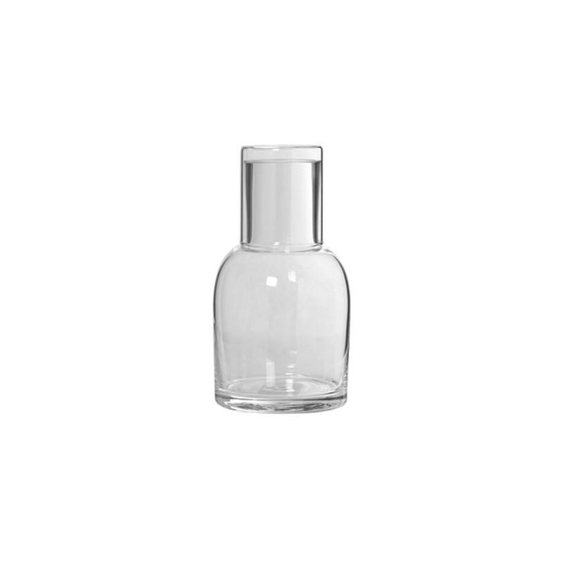 Botella cristal con vaso