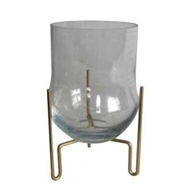 Florero cristal con pedestal