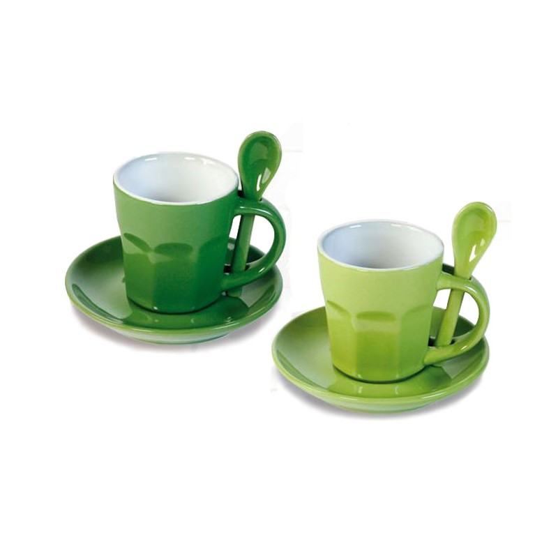Set 2 mugs verde / verde oscuro
