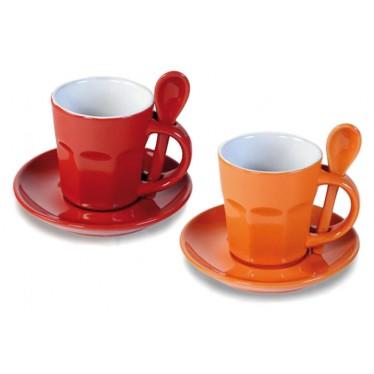 Set 2 mugs naranja / rojo