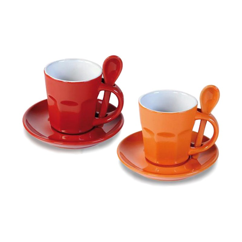 Set 2 mugs naranja / rojo