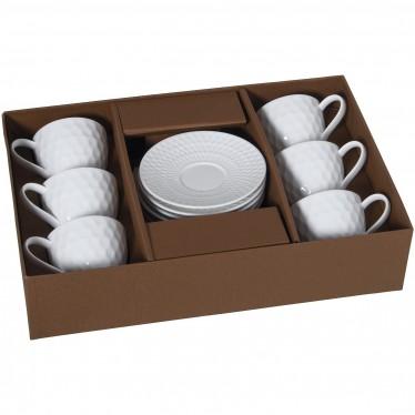 Set 6 tazas té con plato