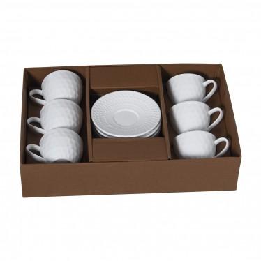 Set 6 tazas café con plato
