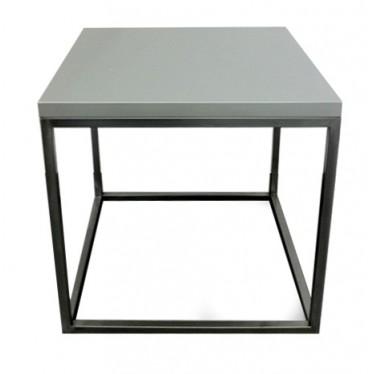 Mesa auxiliar Cubo con Tablero lacado