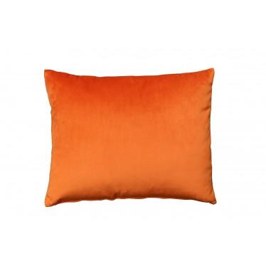 Cojín bicolor naranja/negro